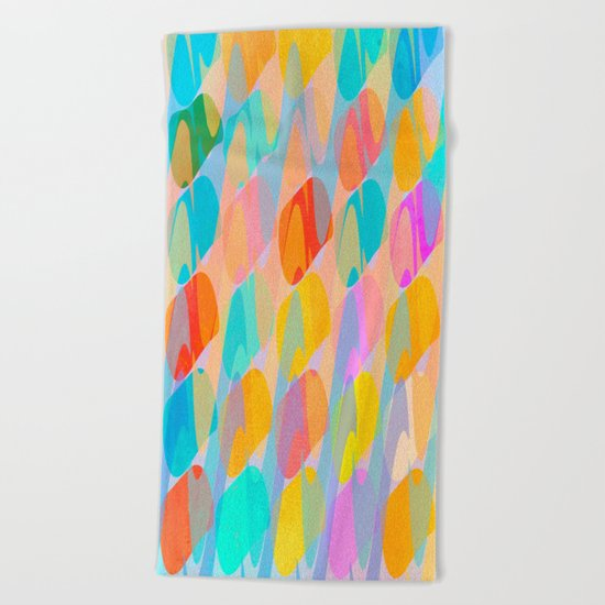 Waves and Spots Beach Towel