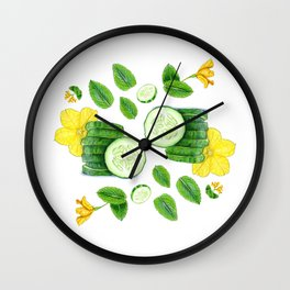 Cucumber and Mint Wall Clock
