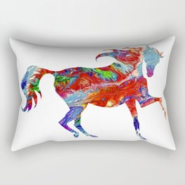 Horse Colorful Silhouette Rectangular Pillow