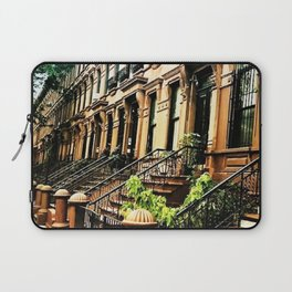 Harlem Brownstones on a summer's day Laptop Sleeve