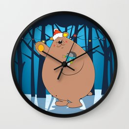 We wish you a Merry Christmas ! Wall Clock