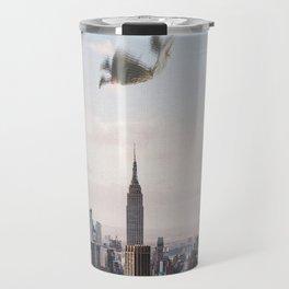 Falling-New York City Skyline Travel Mug