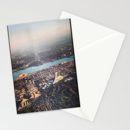 Flying over Montreal' stade Stationery Cards