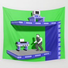 Inside Impossible Mission Wall Tapestry
