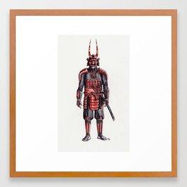 samurai, the villain Framed Art Print