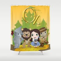 oz Shower Curtains featuring Oz by 7pk2 online