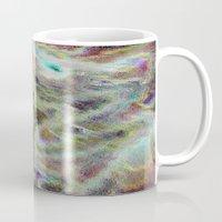 monet Mugs featuring Monet Style Pastel Abstract by David Pyatt