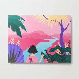 Girl wanderer Metal Print