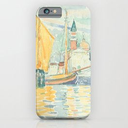 Venice The Giudecca by Henri-Edmond Cross 1903, French iPhone Case