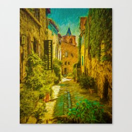 Vieux Village de Grimaud Canvas Print