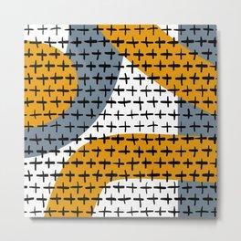 Crossed Squiggly lines Metal Print