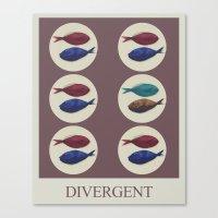 divergent Canvas Prints featuring Divergent by Galen Valle
