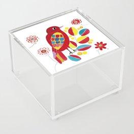 red bird Acrylic Box