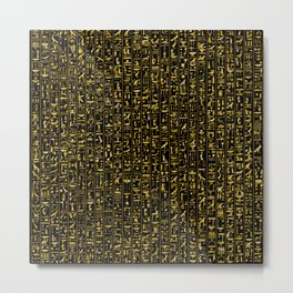 Hieroglyphics GOLD Metal Print