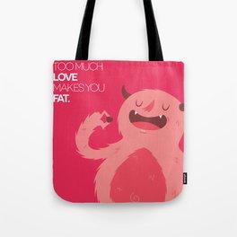 FATTY valentine's day Tote Bag