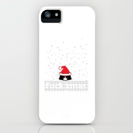 ugly xmas cat iPhone Case