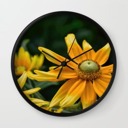 Golden Yellow Wall Clock