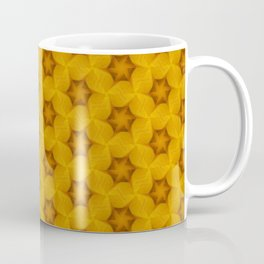 Yellow Flower Chain Pattern Coffee Mug