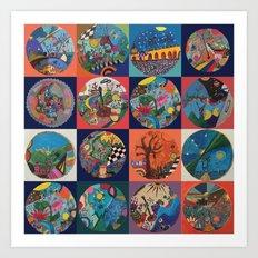Bolitas de colores Art Print