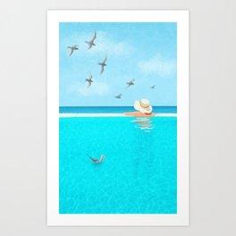 Endless Blue Sky and Blue Water, Summer Bliss Art Print