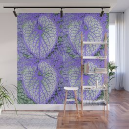 LILAC VEINED TROPICAL LEAVES PATTERN ART Wall Mural