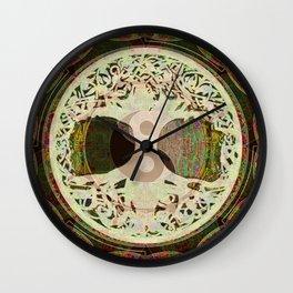 Earthen Mandala Wall Clock