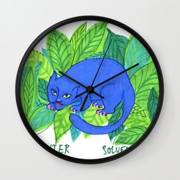 The Blue Panther Wall Clock