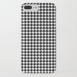 Monochrome Black & White Houndstooth iPhone Case