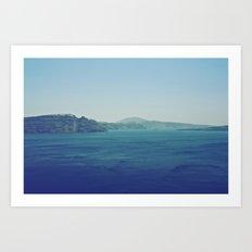 Greek Island Blues Art Print