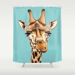 Giraffe Acrylic Painting Shower Curtain