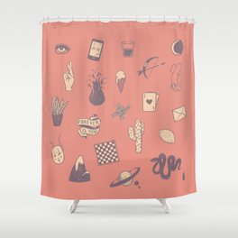 This Is Not A Love Story Shower Curtain