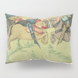 Vintage s of Palamedes in the tournament of Soreloys and Lancelot and Tristan in the tournament at L Pillow Sham