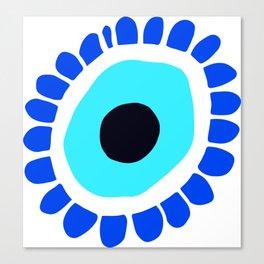 Evil Eye Talisman Blue Scollop Edge Canvas Print