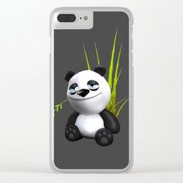 Cute Panda Clear iPhone Case