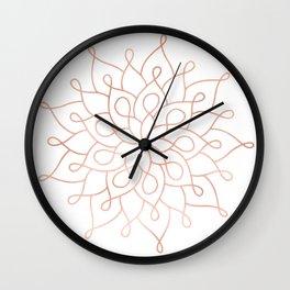 Mandala Rose Gold Pink Star Wall Clock
