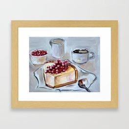 Desert, sweet, food, breakfast, coffee, lunch, dish, cake Framed Art Print