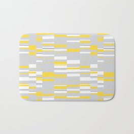 Mosaic Rectangles in Yellow Gray White #design #society6 #artprints Bath Mat