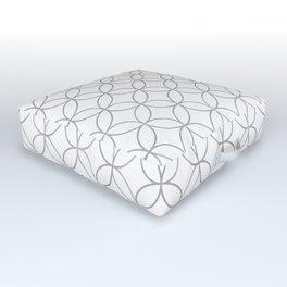 Japanese Traditional Design4 -SHIPPO- Silver Outdoor Floor Cushion