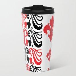 Fluer de Lis Custom Red Travel Mug