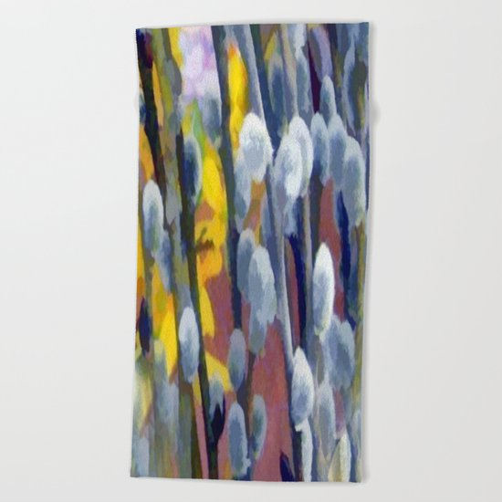 Pussy Willow Beach Towel