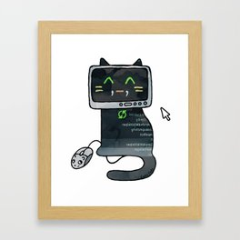 Programmer cat  makes a website Framed Art Print