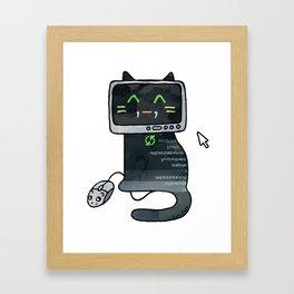 Programmer cat  makes a website Framed Art Print