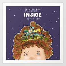 It's What Inside That Counts Art Print