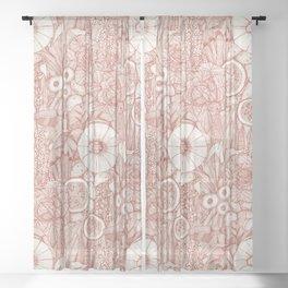 crops NC paprika Sheer Curtain