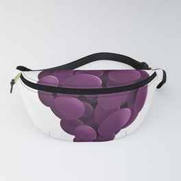 Grapes Abstract Artistic Value Study Digital Graphic  print Fanny Pack