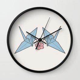 Paper Crane Romance Wall Clock
