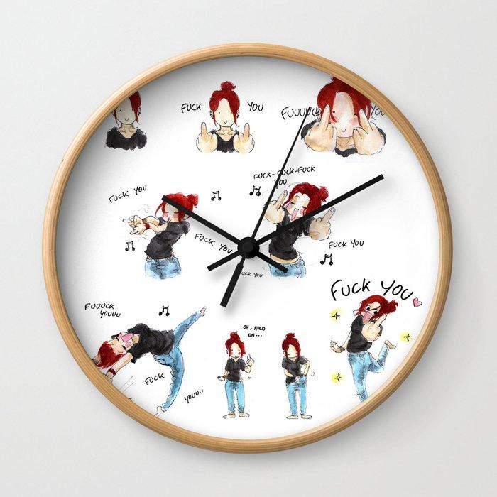 F*CK YOU ! Wall Clock
