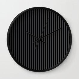 Dark Shadow and Black Stripes Wall Clock