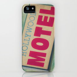 The Hollywood No-Tell Motel iPhone Case