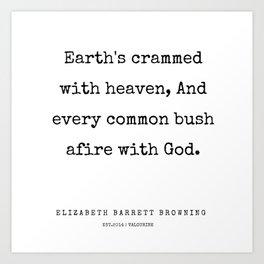 37    | 200210 | Elizabeth Barrett Browning Quotes Art Print
